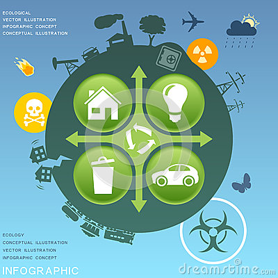 Ecological infographic design elements