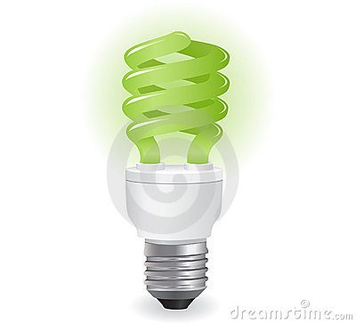 Ecological lightbulbs icon