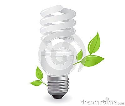 Ecological lightbulbs illustration