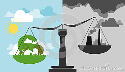 Ecological scale and balance Vector Illustration