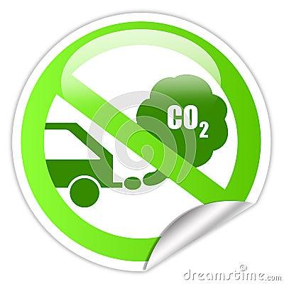 Ecological transport sticker
