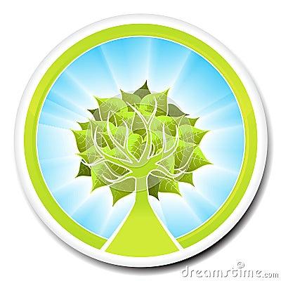Ecological tree badge design