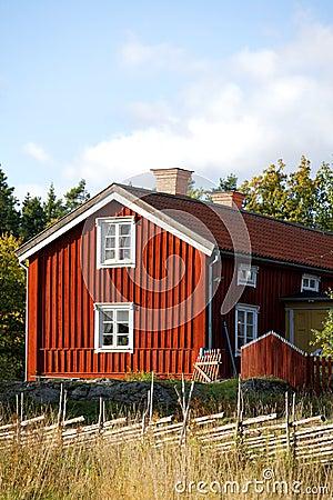 Ecological wooden cottage