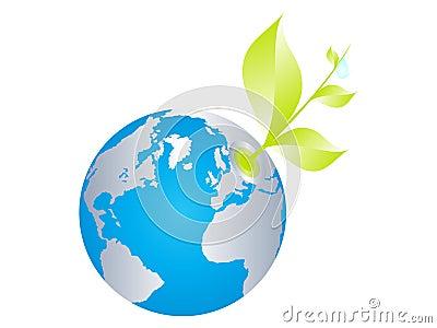 Ecological world globe