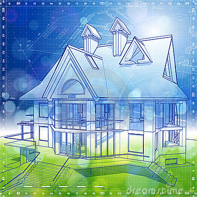 Home Design  Architecture on Ecology Architecture Design  House  Plans Stock Image   Image