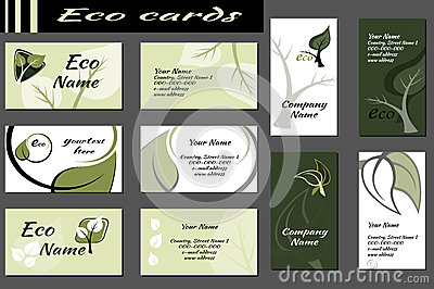 Ecology Backgrounds for business cards