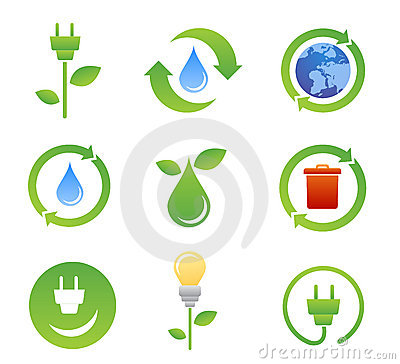 Ecology bio icons and symbols