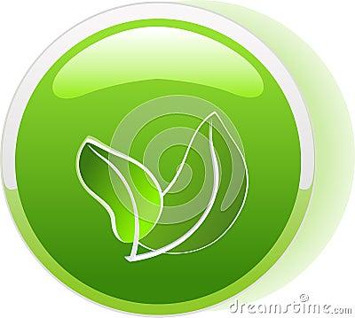 Ecology button icon