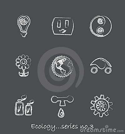 Free Ecology Chalkboard Icons...series No.3 Royalty Free Stock Photo - 14219045