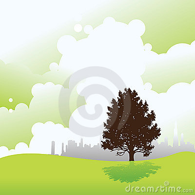 Ecology cityscape