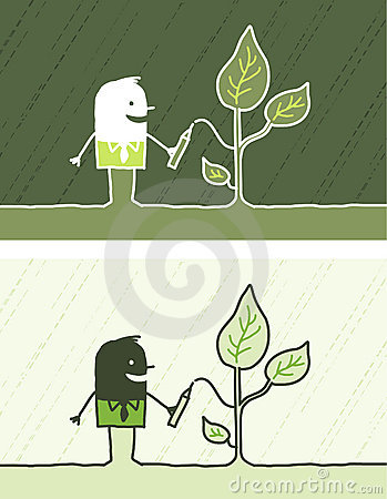 Ecology colored cartoon