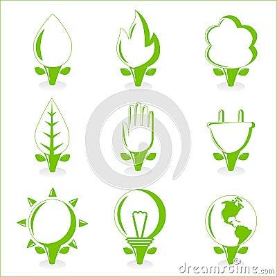 Ecology and energy symbol