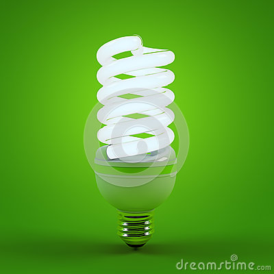 Free Ecology Environment And Saving Energy, Fluorescent Light Bulb Concept Of Successful Business. Energy Saving Solutions Royalty Free Stock Photos - 78012058