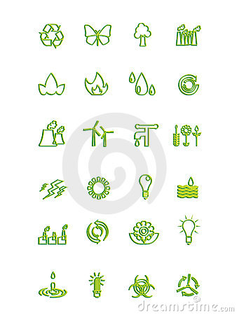 Free Ecology Icons Stock Photography - 5543632