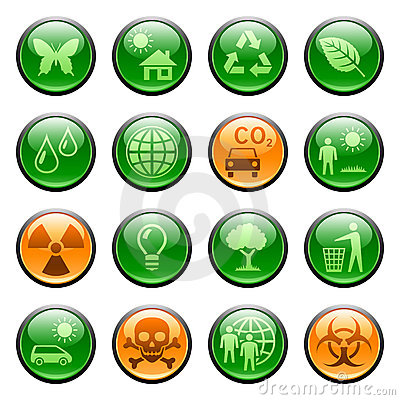 Free Ecology Icons / Buttons Stock Image - 9227681