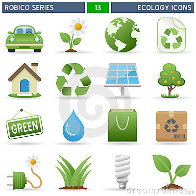 Free Ecology Icons - Robico Series Stock Image - 13697561