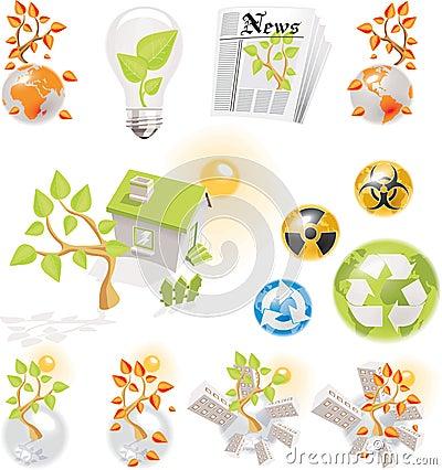 Free Ecology Icons Set Stock Photo - 8140720