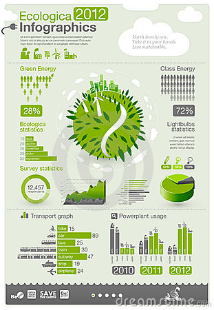 Free Ecology Info Graphics Royalty Free Stock Photography - 22017407