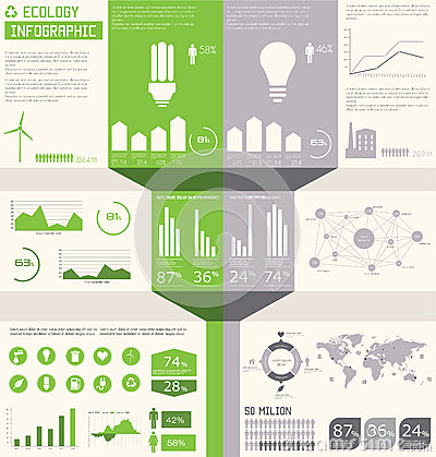 Ecology info graphics collection,
