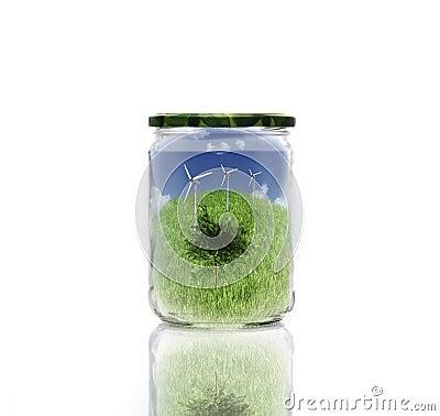 Ecology in jar