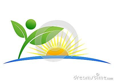 Ecology logo Vector Illustration