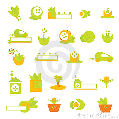 Ecology logo and icons – vector