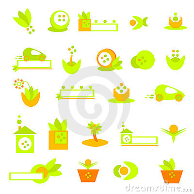 Ecology logos, banners and icons