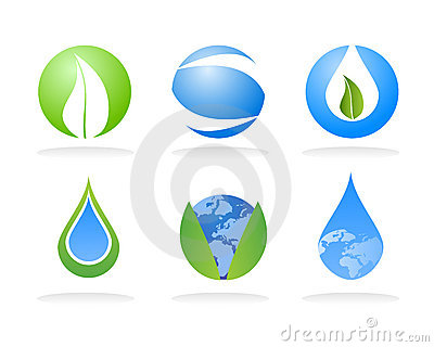 Ecology nature logo elements
