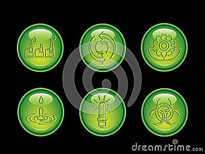 Ecology neon button series