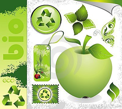 Ecology set Editorial Stock Photo