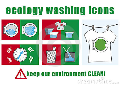Ecology washing icons