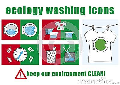 Ecology washing icons