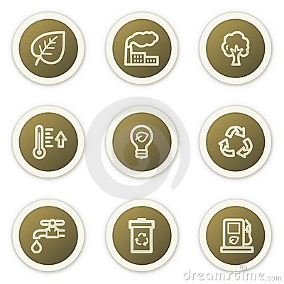 Ecology web icons set 1