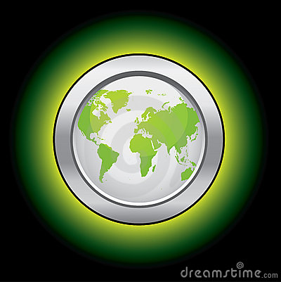 Ecology world button