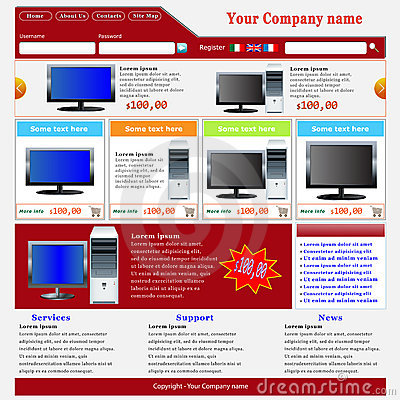 Ecommerce Website Template Royalty Free Stock Photo - Image: 19278945