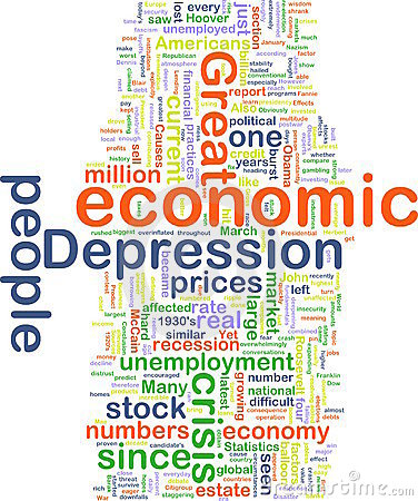 Economic depression wordcloud