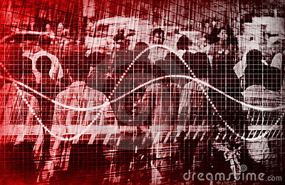 Economic Gloom Grim Forecast Abstract