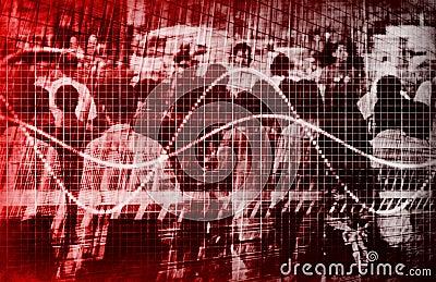 Economic Gloom Grim Forecast Abstract