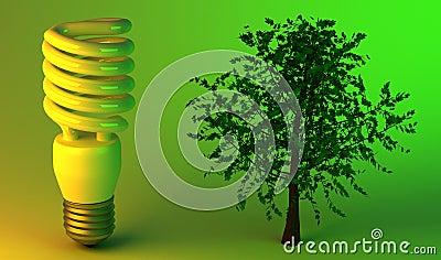 Economic light bulb and tree