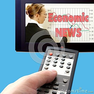 Economic news on tv