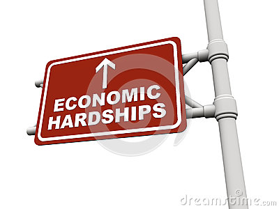 Economic recession hardship