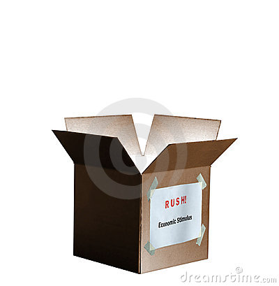 Economic Stimulus Package Box Isolated