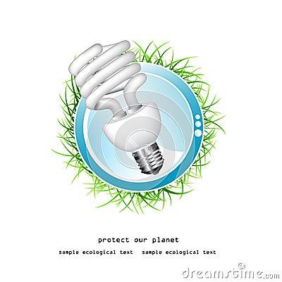 Economical bulb vector illustration