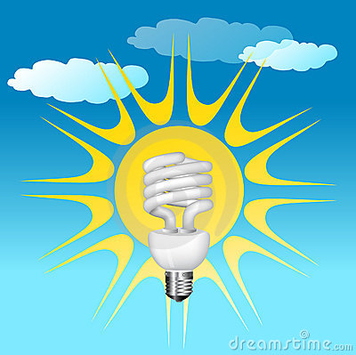 Economical bulb vector illustration