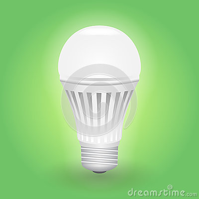 Free Economical LED Light Bulb. Save Energy Lamp. Stock Photography - 84889742