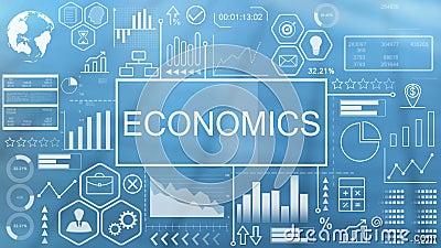 Economie, geanimeerde typografie stock video