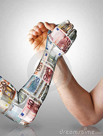 Economy arm wrestling