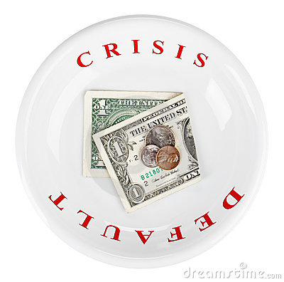 Economy crisis of dollar currency concept photo