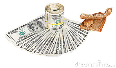 Economy crisis of USA dollar currency concept