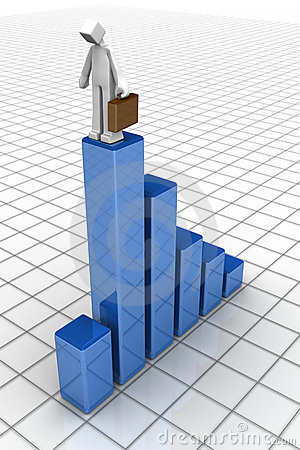 Economy recession business financial drop concept